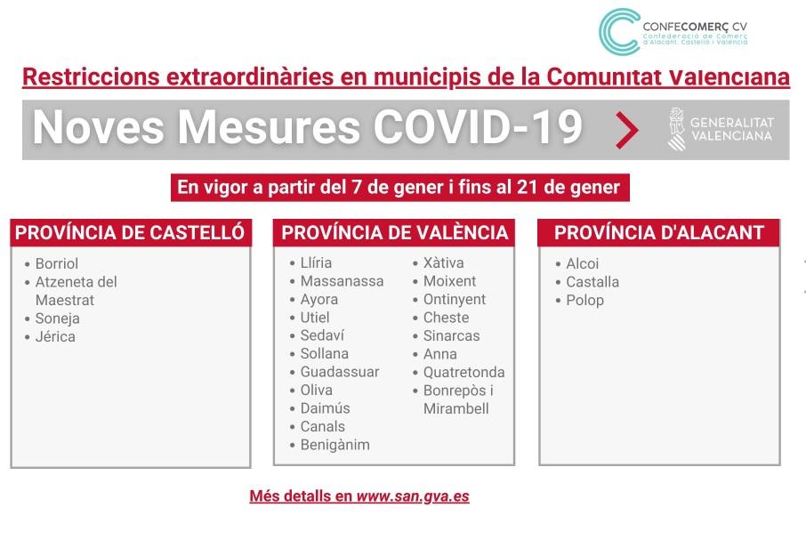 En rueda de prensa, el President de la Generalitat y la Consellera de Sanitat han anunciado nuevas medidas para hacer frente a la COVID-19, que entrarán en vigor este jueves 7 de enero a las 00:00 horas y estarán vigentes, de momento, hasta el 31 de enero. 2