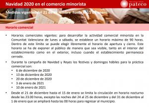 Navidad 2020 en el comercio minorista: Medidas vigentes del 21 de diciembre al 15 de enero